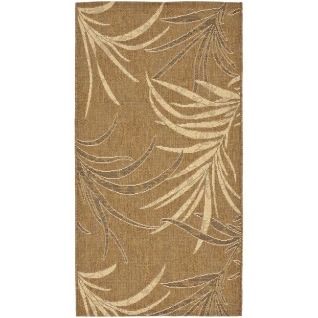 Safavieh Courtyard Gold/ Cream Indoor/ Outdoor Rug (2'7 x 5')