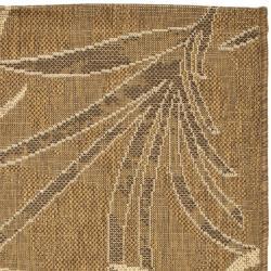 Safavieh Courtyard Gold/ Cream Indoor/ Outdoor Rug (2'7 x 5') - Thumbnail 1