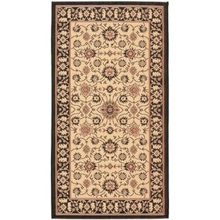 Safavieh Courtyard Oriental Black/ Cream Indoor/ Outdoor Rug (2'7 x 5')
