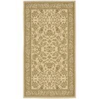 Safavieh Courtyard Elegance Ivory/ Green Indoor/ Outdoor Rug - 2'7 x 5'