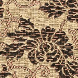 "Safavieh Indoor/Outdoor Creme/Black Floral Rug (2'7"" x 5') - Thumbnail 2"