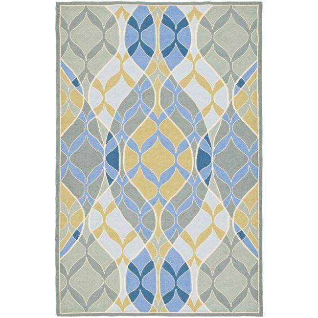 Safavieh Hand-hooked Chelsea Waves Multi Wool Rug - 7'9 x 9'9