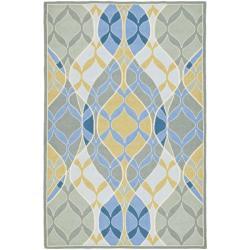 Safavieh Hand-hooked Chelsea Waves Multi Wool Rug (7'9 x 9'9)