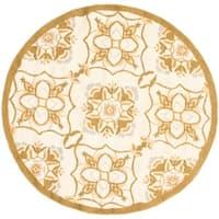 Safavieh Hand-hooked Chelsea Harmony Ivory Wool Rug - 3' x 3' round
