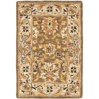 Safavieh Micro Hand-hooked Chelsea Kerman Brown Wool Rug - 1'8 x 2'6