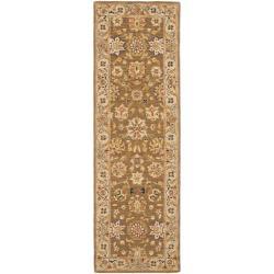 Safavieh Micro Hand-hooked Chelsea Kerman Brown Wool Runner (2'6 x 10')