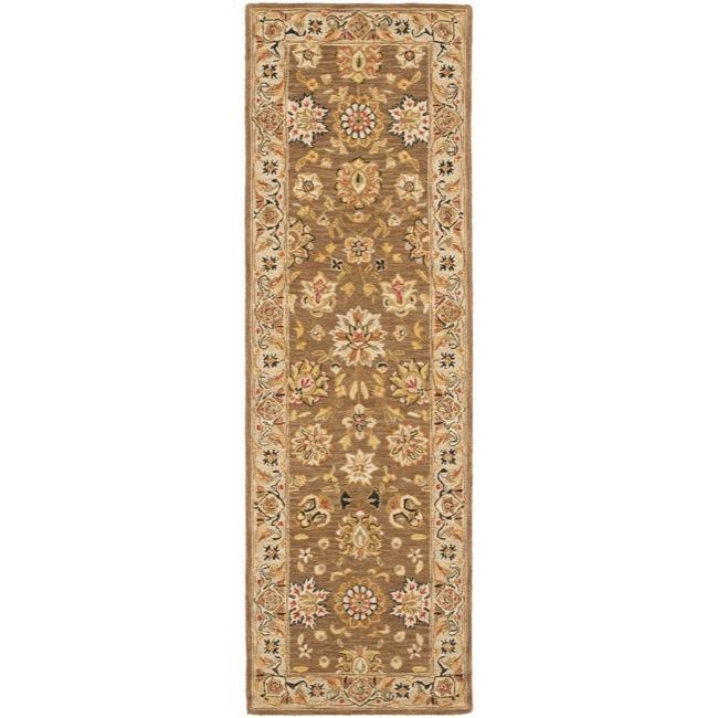 Safavieh Micro Hand-hooked Chelsea Kerman Brown Wool Runner (2'6 x 12')