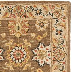 Safavieh Micro Hand-hooked Chelsea Kerman Brown Wool Runner (2'6 x 12') - Thumbnail 1