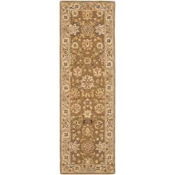 Safavieh Micro Hand-hooked Chelsea Kerman Brown Wool Runner (2'6 x 6')