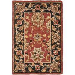 Safavieh Mirco Hand-hooked Chelsea Kerman Red Wool Rug (1'8 x 2'6)