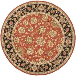 Safavieh Micro Hand-hooked Chelsea Kerman Red Wool Rug (4' Round)