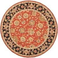 Safavieh Micro Hand-hooked Chelsea Kerman Red Wool Rug - 4' x 4' Round