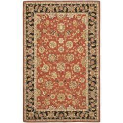 Safavieh Mirco Hand-hooked Chelsea Kerman Red Wool Rug (5'3 x 8'3)