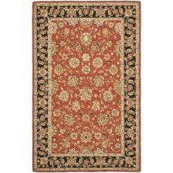 Safavieh Micro Hand-hooked Chelsea Kerman Red Wool Rug - 7'9 x 9'9 - Thumbnail 0