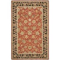 Safavieh Micro Hand-hooked Chelsea Kerman Red Wool Rug - 7'9 x 9'9