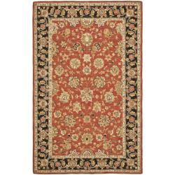 Safavieh Micro Hand-hooked Chelsea Kerman Rose/ Black Wool Rug (8'9 x 11'9) - Thumbnail 0