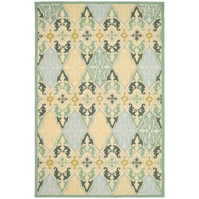 Safavieh Hand-hooked Chelsea Sonet Multicolor Wool Rug - 3'9' x 5'9'
