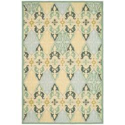 Safavieh Hand-hooked Chelsea Sonet Multicolor Wool Rug - 7'9 x 9'9 - Thumbnail 0