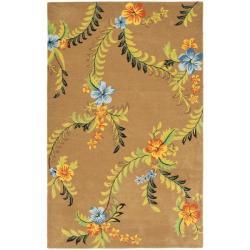 Safavieh Contemporary Handmade Soho Brown New Zealand Wool Rug - 9'6' x 13'6' - Thumbnail 0