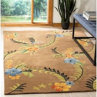 "Safavieh Contemporary Handmade Soho Brown New Zealand Wool Rug - 9'6"" x 13'6"""