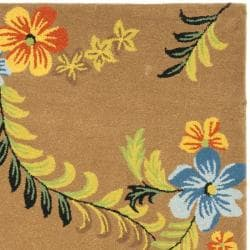 Safavieh Contemporary Handmade Soho Brown New Zealand Wool Rug (6' x 9') - Thumbnail 1