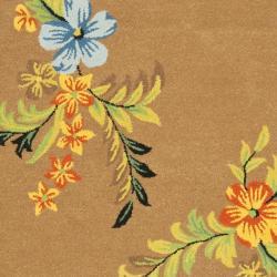 Safavieh Contemporary Handmade Soho Brown New Zealand Wool Rug (6' x 9') - Thumbnail 2