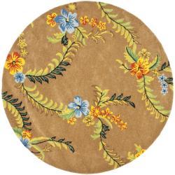 Safavieh Handmade Soho Brown Contemporary New Zealand Wool Rug (8' Round)