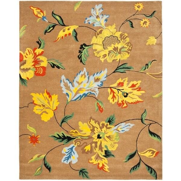 "Safavieh Handmade Soho Brown New Zealand Wool Rug - 9'-6"" x 13'-6"""
