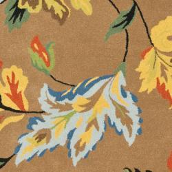 "Safavieh Handmade Soho Brown New Zealand Wool Floral Rug (8'3"" x 11') - Thumbnail 2"