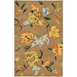 "Safavieh Handmade Soho Brown New Zealand Wool Floral Rug (8'3"" x 11')"