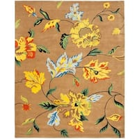 "Safavieh Handmade Soho Brown New Zealand Wool Floral Rug - 8'3"" x 11'"