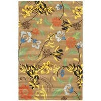 "Safavieh Handmade Soho Brown New Zealand Wool Floral Rug - 9'6"" x 13'6"""