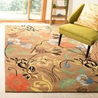 "Safavieh Handmade Soho Brown New Zealand Wool Floral Rug - 9'-6"" X 13'-6"""