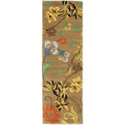 Safavieh Handmade Soho Brown New Zealand Wool Runner (2'6 x 10')