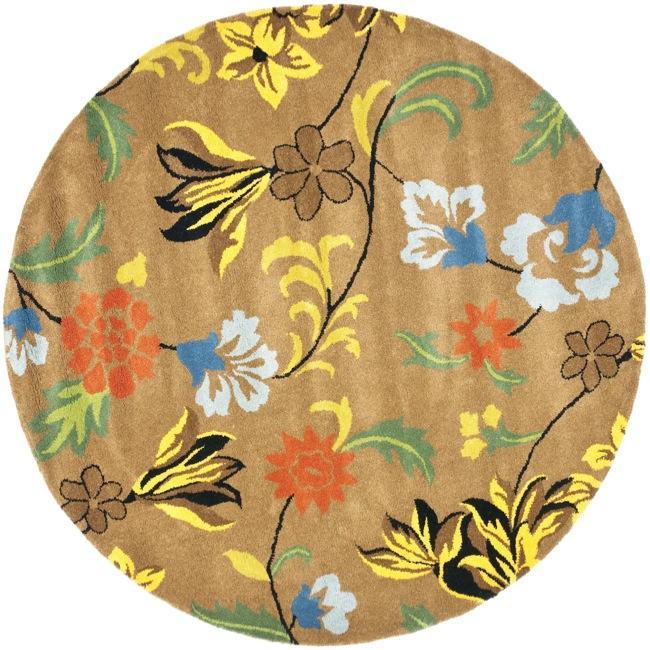 Safavieh Handmade Soho Brown New Zealand Wool Rug (8' Round)