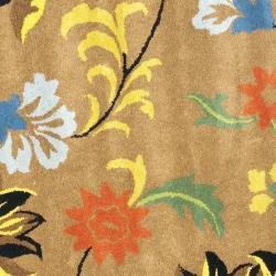 Safavieh Handmade Soho Brown New Zealand Wool Rug (8' Round) - Thumbnail 2