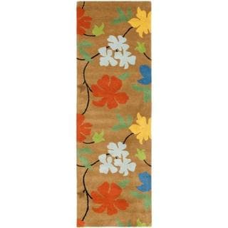 Safavieh Handmade Soho Tetje Floral N.Z. Wool Rug (26 x 14 Runner - Brown/Multi)