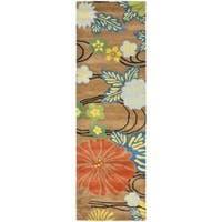 Safavieh Handmade Soho Brown New Zealand Wool Runner - 2'6 x 10'