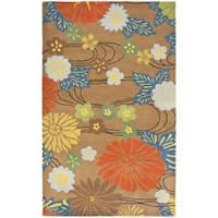 Safavieh Handmade Soho Brown Floral New Zealand Wool Rug (6' x 9') - 6' x 9'