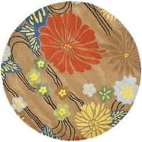 Safavieh Handmade Soho Brown New Zealand Wool Rug - 8' x 8' Round