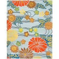 "Safavieh Handmade Soho Blue New Zealand Wool Rug - 9'-6"" x 13'-6"""