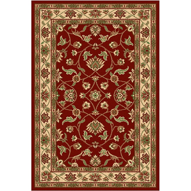 Oriental Melody Red Wool Rug (8' x 10')