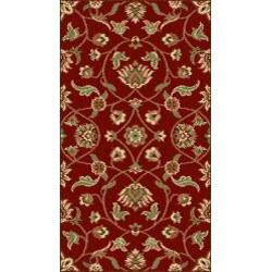 Oriental Melody Red Wool Rug (8' x 10') - Thumbnail 2