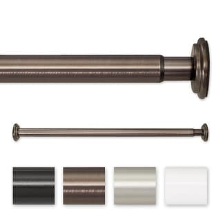 Pinnacle 30 to 52-inch Adjustable Spring Tension or Screw Mount Curtain Rod