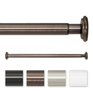 Pinnacle 30 to 52-inch Adjustable Spring Tension or Screw Mount Curtain Rod - 52