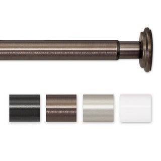 Pinnacle 52 to 90-inch Adjustable Spring Tension or Screw Mount Curtain Rod
