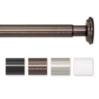 Pinnacle 52 to 90-inch Adjustable Spring Tension or Screw Mount Curtain Rod - 90|https://ak1.ostkcdn.com/images/products/5804170/P13524098.jpg?impolicy=medium