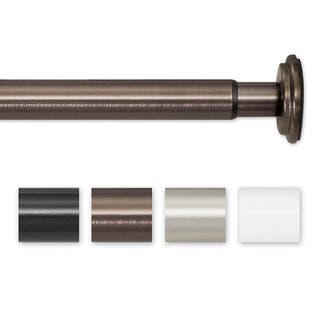 Pinnacle 52 to 90-inch Adjustable Spring Tension or Screw Mount Curtain Rod - 90