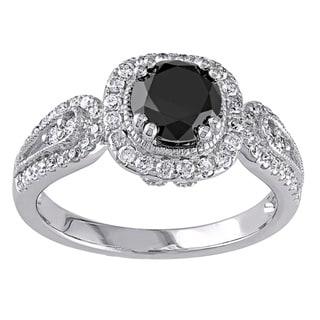 Miadora Signature Collection 14k Gold 1 1/2ct TDW Black Diamond Ring
