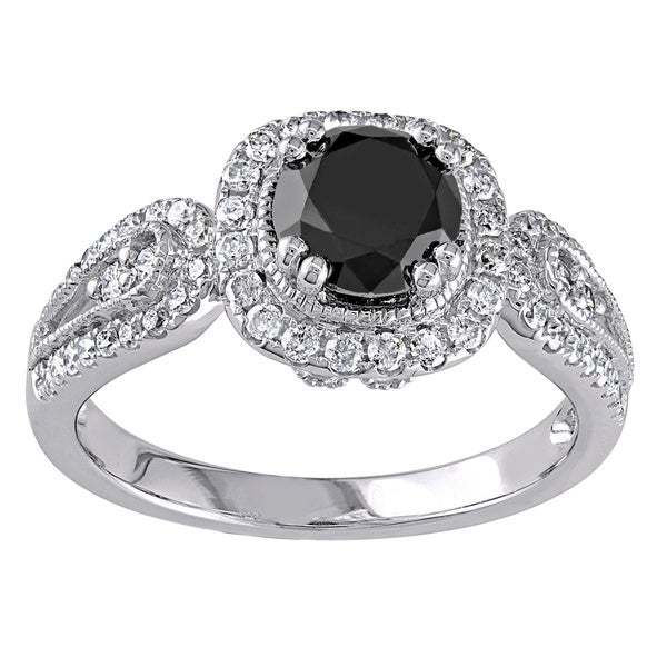 Miadora Signature Collection 14k Gold 1 1/2ct TDW Black Diamond Ring
